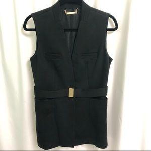 Diane Von Furstenberg long black belted vest, 8